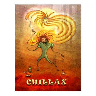 'Chillax' postcard
