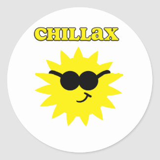 Chillax Sun Sticker