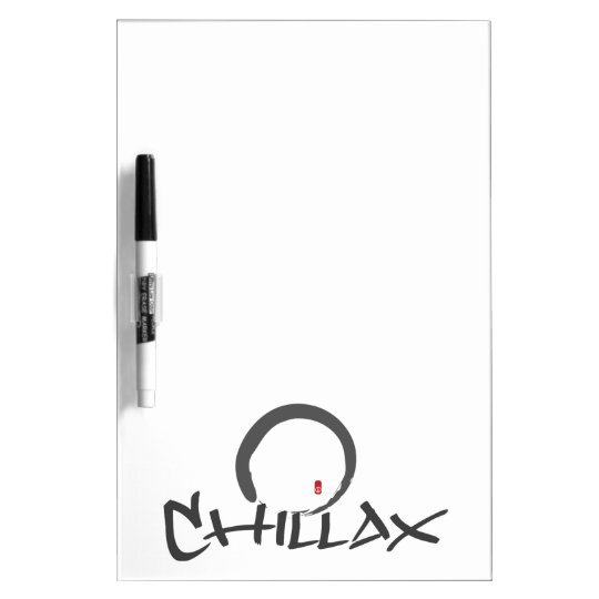 Chillax with Enso and Peace Sign Dry Erase Board