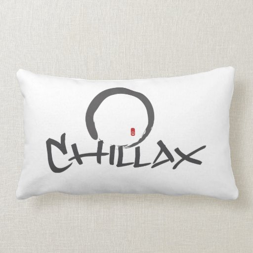 Chillax with Enso and Peace Sign Pillow