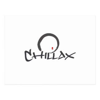Chillax with Enso and Peace Sign Postcard