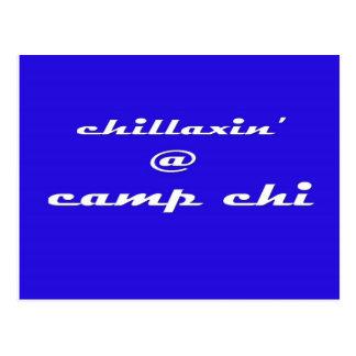 Chillaxin' @ Camp Chi (Blue) Postcard