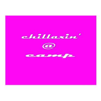 Chillaxin' @ Camp (pink) Postcard