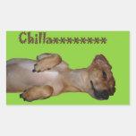 Chillaxin Chiweenie Sticker