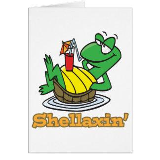 chillaxin shellaxin chill relaxing cute turtle cards