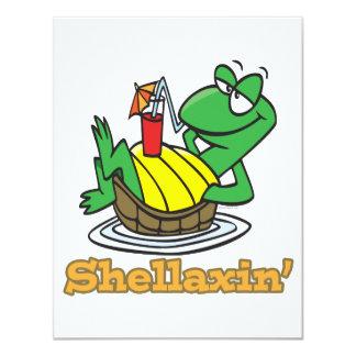 chillaxin shellaxin chill relaxing cute turtle invitations