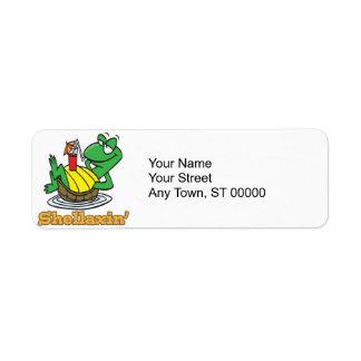 chillaxin shellaxin chill relaxing cute turtle custom return address labels