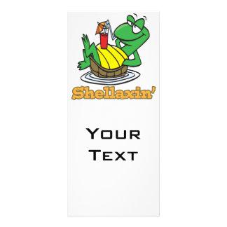 chillaxin shellaxin chill relaxing cute turtle rack cards