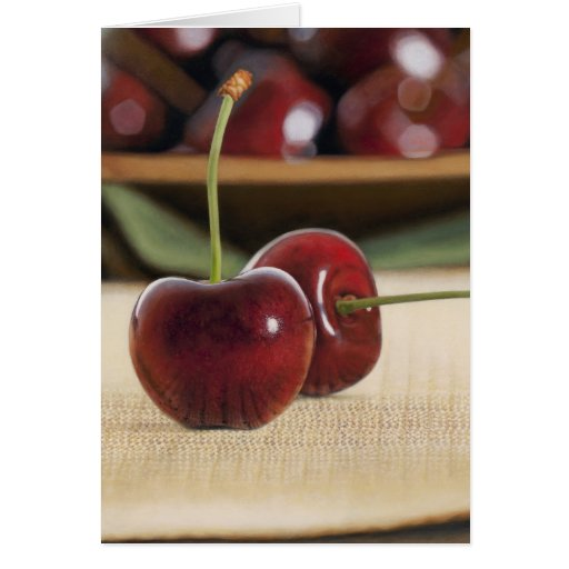 Chilled Cherries Greeting Cards