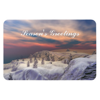 Chilled Christmas Hills Magnet