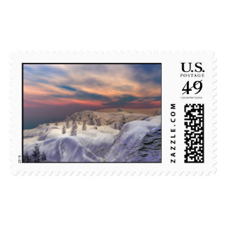 Chilled Christmas Hills Postage