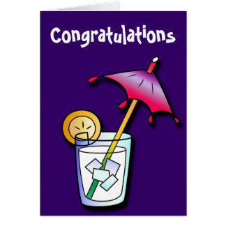 Chilled Drink Congratulations Card