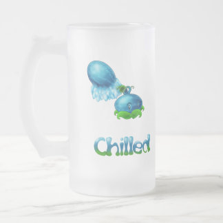 Chilled Melon Frosted Glass Beer Mug