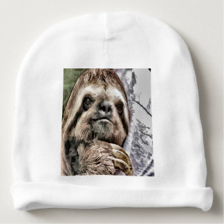 Chilled Sloth Baby Beanie