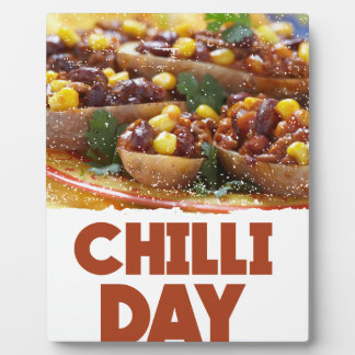 Chilli Day - Appreciation Day Plaque