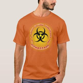 Chilli Eating Compressed Gas Biohazzard Shirt. T-Shirt