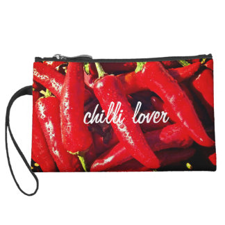 Chilli Lover, Red Chilli, Hot design Wristlet Wallet