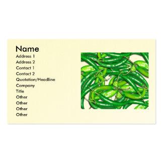 chilli mouse mat 3, Name, Address 1, Address 2,... Business Card Template