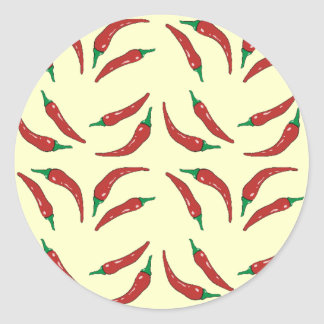 chilli pepper, cookery classic round sticker