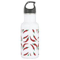 chilli pepper, cookery stainless steel water bottle