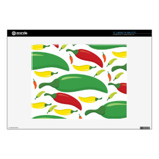 Chilli pepper pattern decal for laptop
