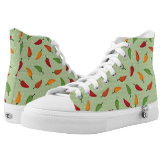 Chilli pepper pattern printed shoes