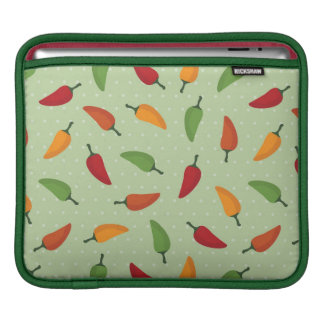 Chilli pepper pattern sleeves for iPads