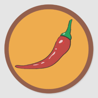 chilli pepper. spice classic round sticker