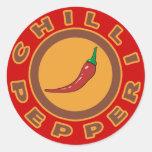chilli pepper. spice classic round sticker