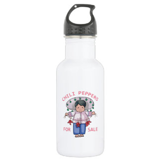 Chilli Peppers 18oz Water Bottle