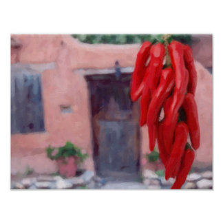 Chilli Peppers Ristra Print