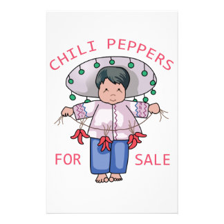 Chilli Peppers Customized Stationery