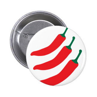 Chilli Red Hot Three Peppers Pinback Button