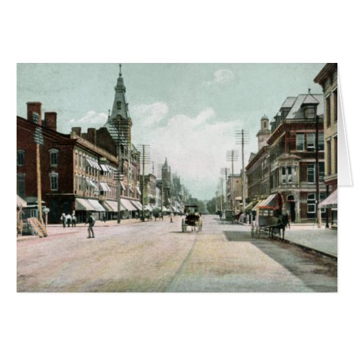 Chillicothe Ohio Paint Street Greeting Card