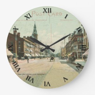 Chillicothe Ohio Post Card Clock - Paint Street