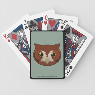 Chillido-Búho de papel Baraja Cartas De Poker