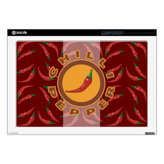 """chillie pepper. spice decal for 17"""" laptop"""