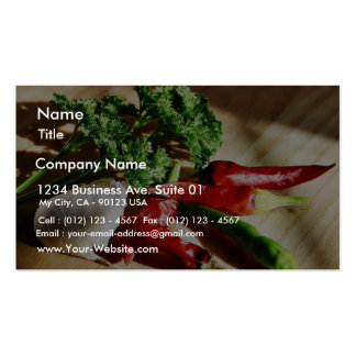 Chillies Chili Peppers Garlic Parsley Business Card