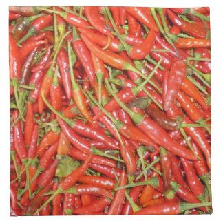 chillies cloth napkin