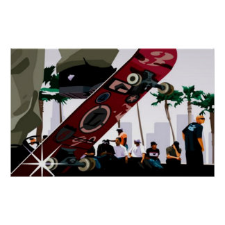Chillin at the Skateboard Park - Poster