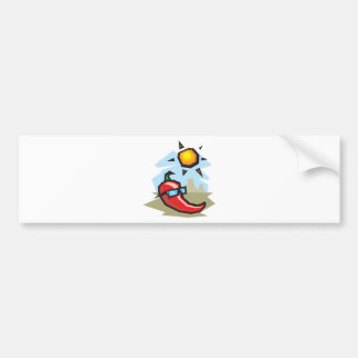 chillin chili pepper bumper sticker