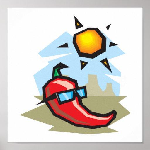 chillin chili pepper poster