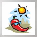 chillin chili pepper print