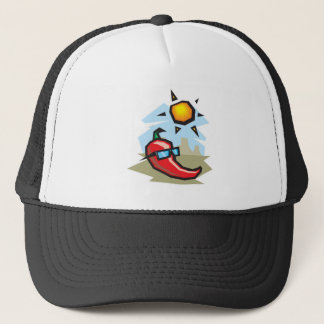chillin chili pepper trucker hat