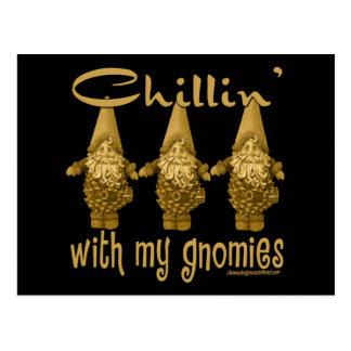 ¡Chillin con mi Gnomies! Tarjetas Postales