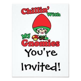 Chillin con mi Toadstool del gnomo de Gnomies Invitaciones Personalizada