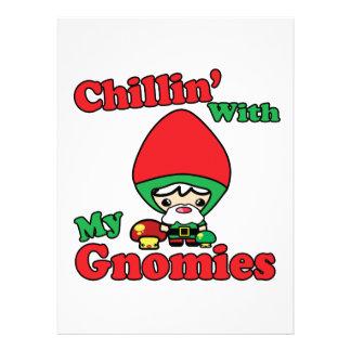Chillin con mi Toadstool del gnomo de Gnomies Kawa Anuncios Personalizados