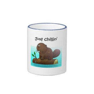 Chillin del castor apenas taza de café