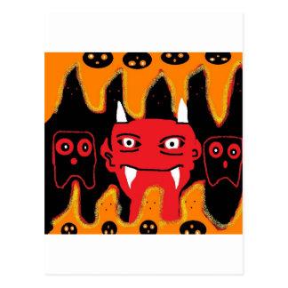 chillin del diablo tarjetas postales