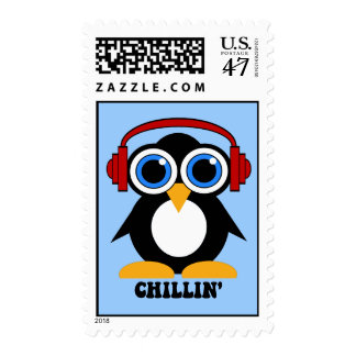 chillin del pingüino estampilla